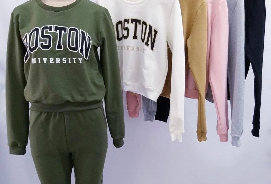 """Buzo Rustico con puño estampado """"BOSTON"""" #4111/E"""