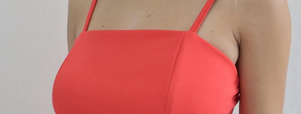 Top crep sastre abertura inferior c/ 2 tiras espalda #6233