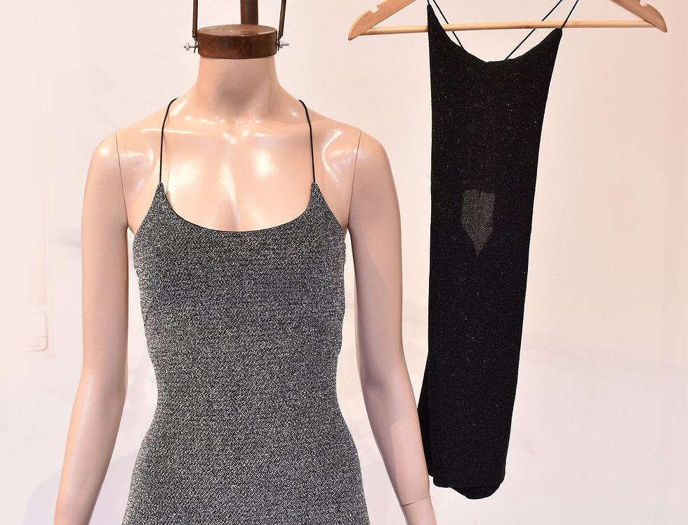 Vestido Lurex con Cordón Elástico Espalda #226/L