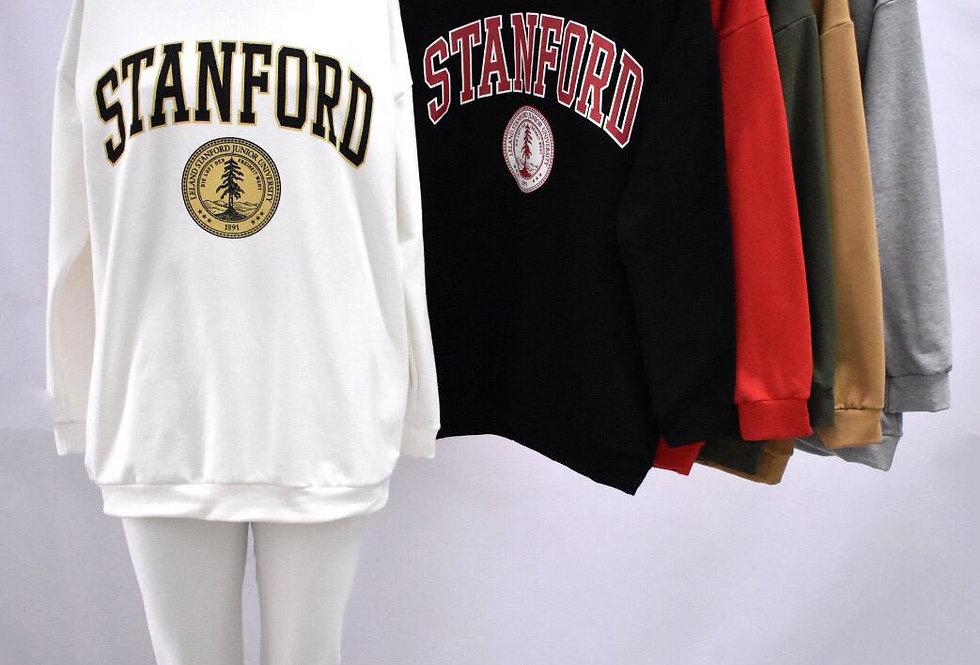 """Buzo Maxi Frizado Largo Estampado """"Stanford"""" #5151"""