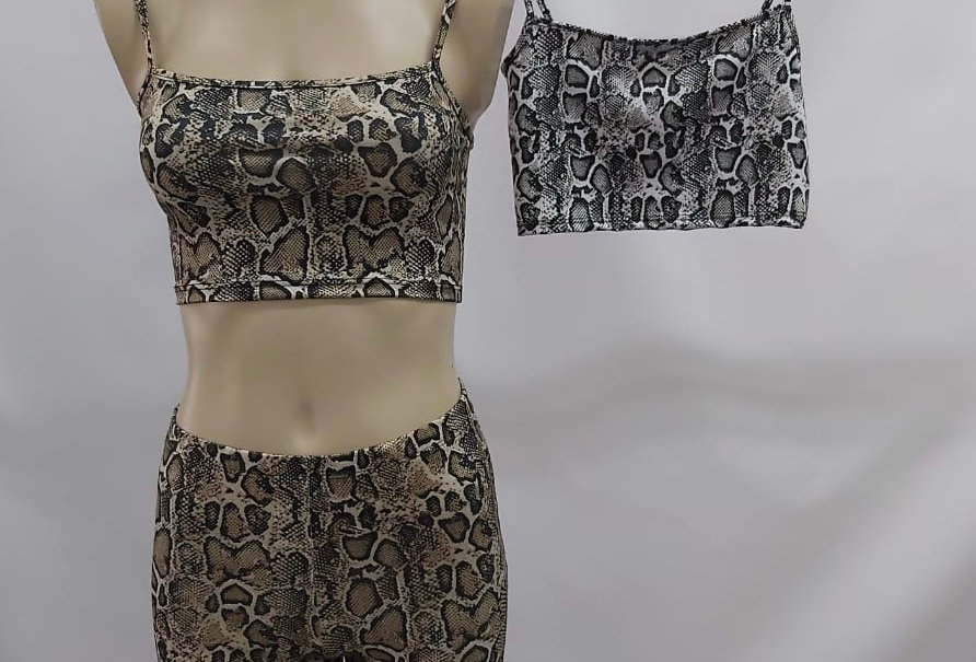 "Croptop Retro Estampado ""REPTIL"" #3090/R"