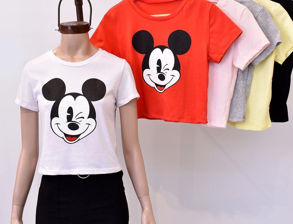 "Remera Jersey Pupera Estampa ""Mickey Cara"" #7012/E"
