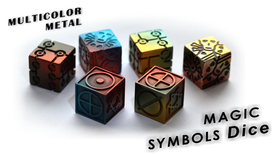 Multicolor metal Dice