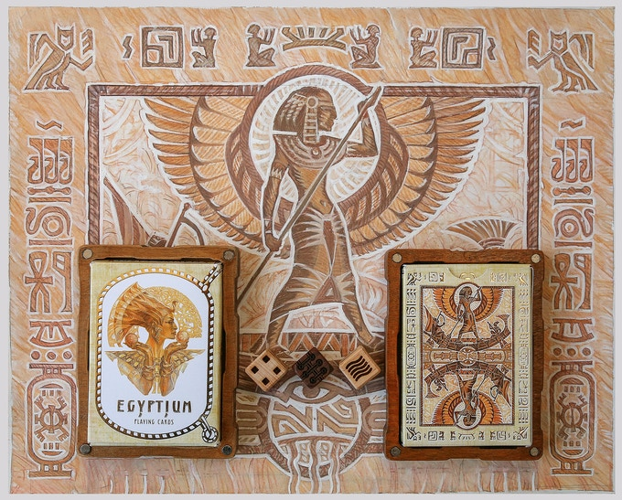 Egyptium playing cards