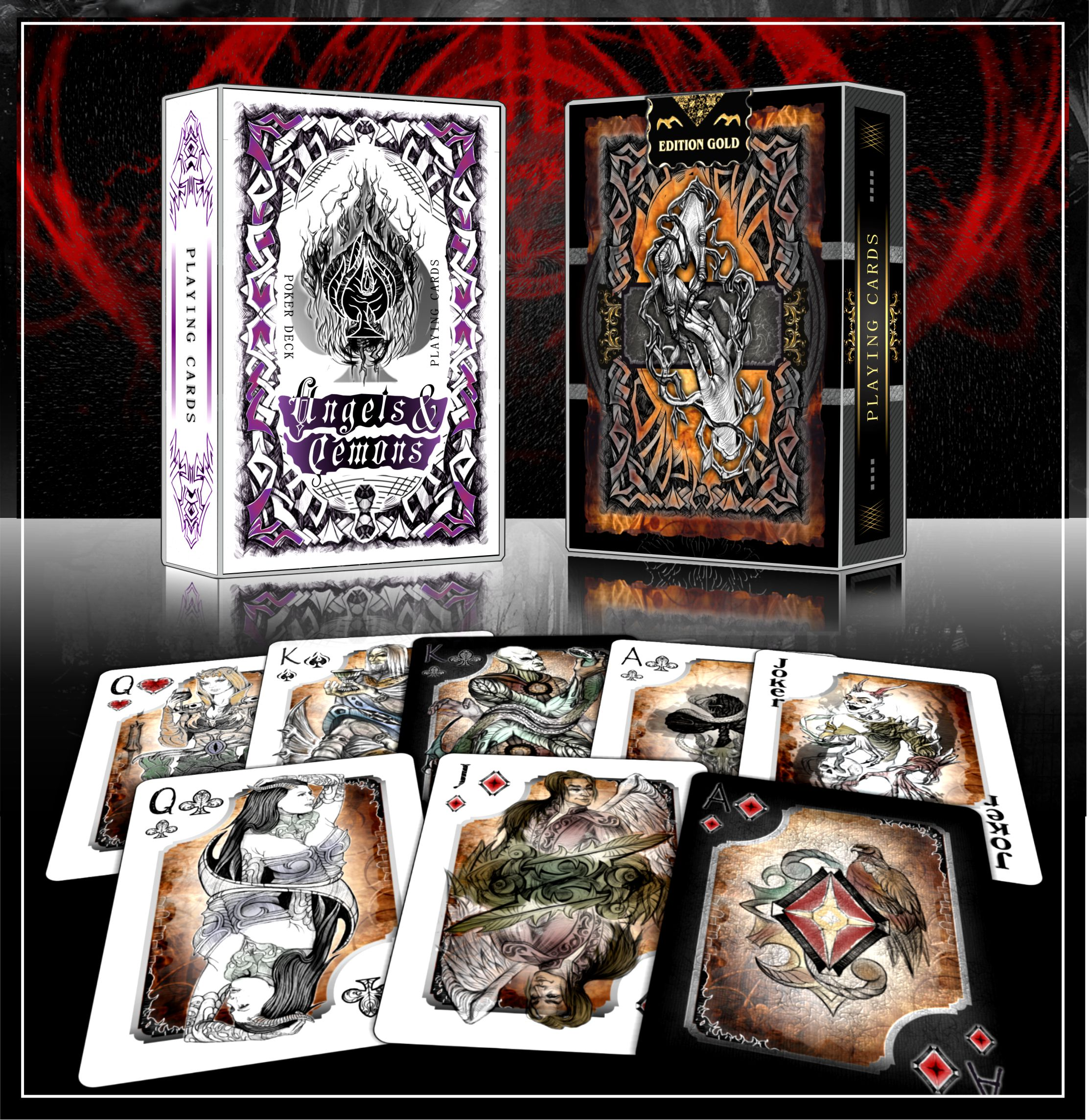 Angels & Demons playing cards