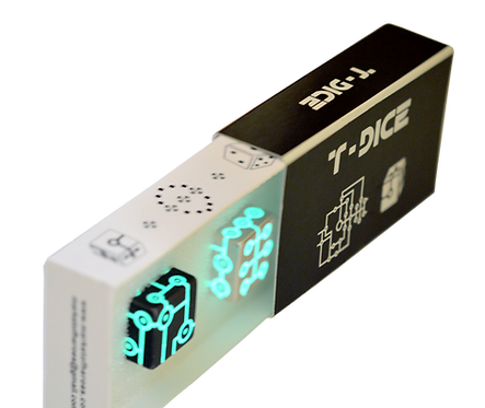 Glow T-Dice (Pair black)