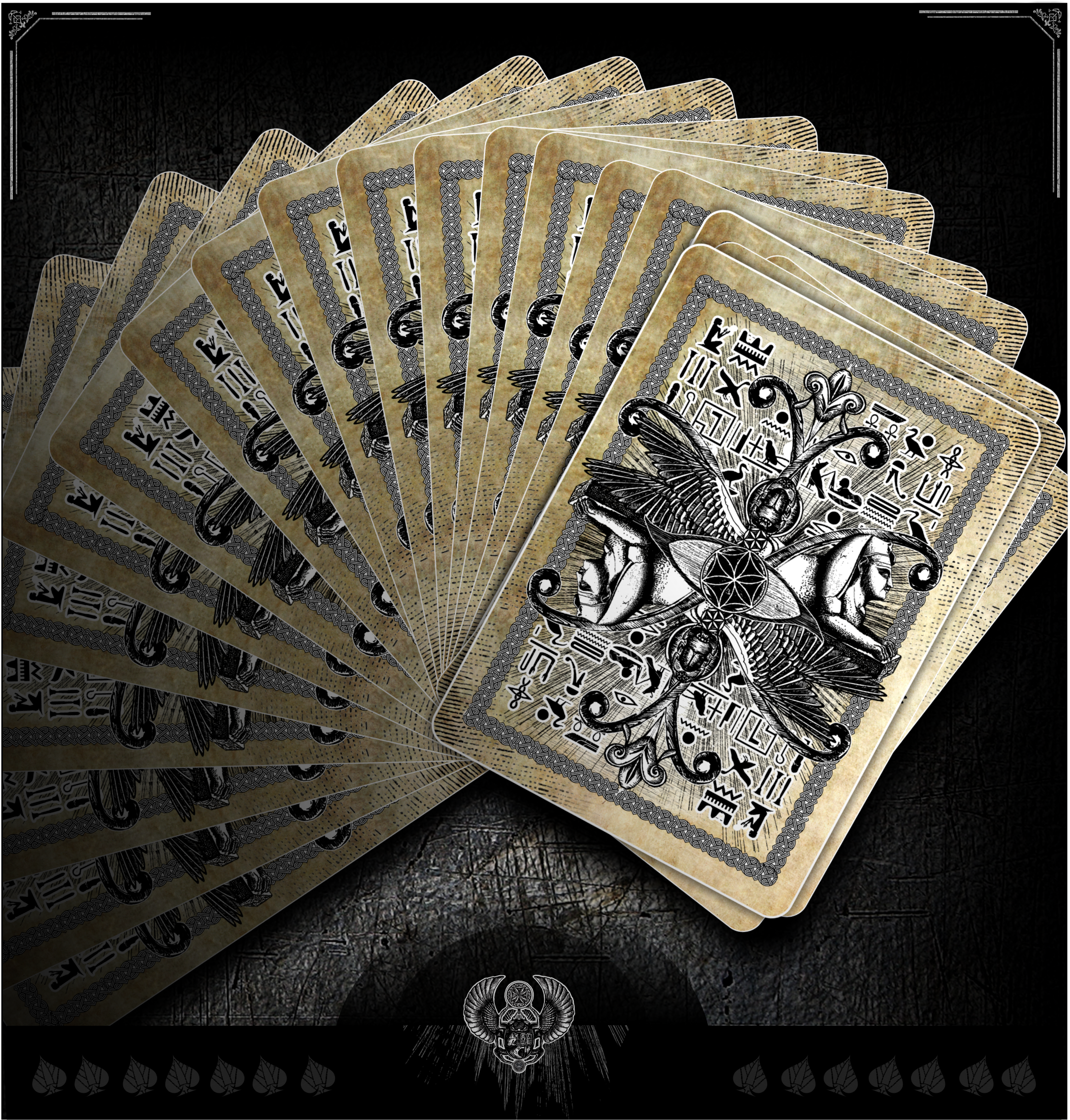 Aces of Egypt playing cards