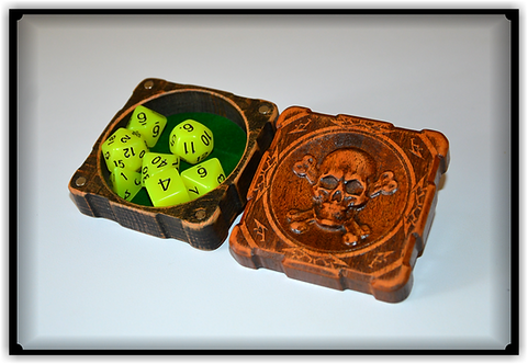 Skull Dice Set Glow RPG