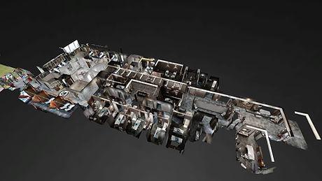Matterport Sanal Gezinti Rixos Spa Dollhouse Maket Görünümü 360° VR Sanal Gezinti