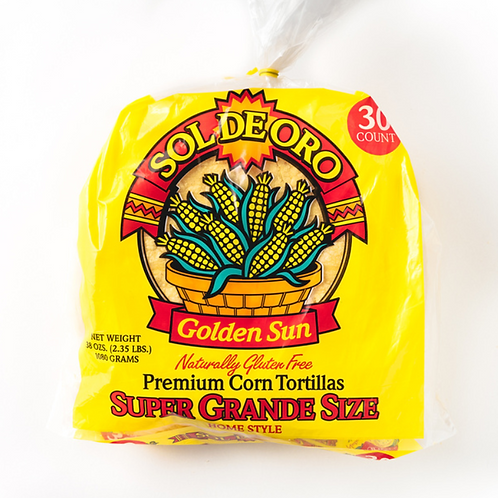 Super Grande Yellow Corn Tortillas