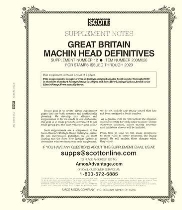 2020 Scott Great Britain Machins Supplement #12