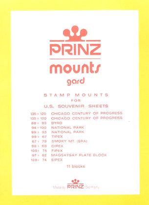 #971:   Multiple: Early Souvenir Sheets