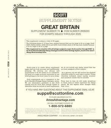 2020 Scott Great Britain Supplement #74