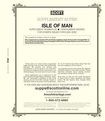 2020 Scott Isle of Man Supplement #22