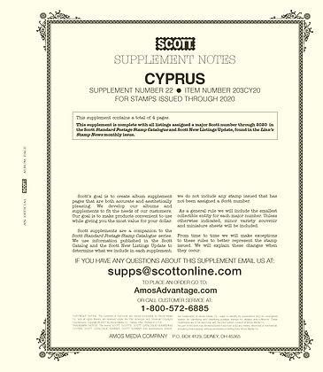 2020 Scott Cyprus Supplement #22