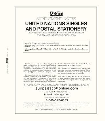 2020 Scott United Nations Supplement #56