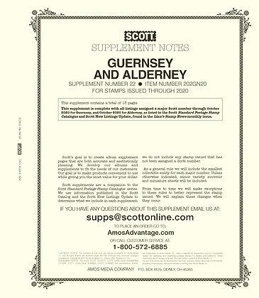 2020 Scott Guernsey & Alderney Supplement #22