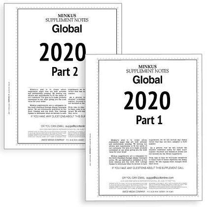 G-20: 2020 Minkus Global Parts 1 & 2 complete (for stamps issued 2019)