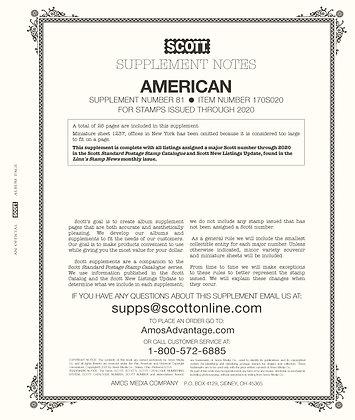 2020 Scott American Album Supplement #81