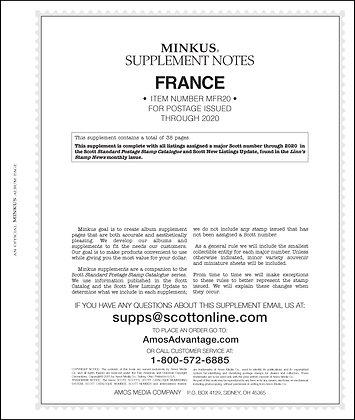 2020 Minkus France Supplement
