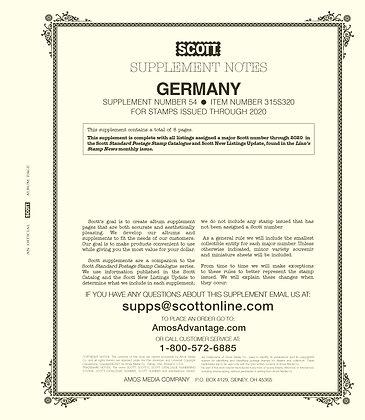 2020 Scott Germany Supplement #54