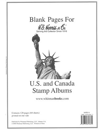 HE Harris Liberty Blank Pages US/UN/Canada