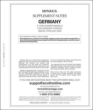 2020 Minkus Germany Supplement