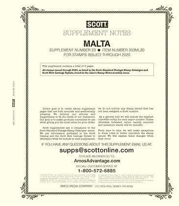 2020 Scott Malta Supplement #23