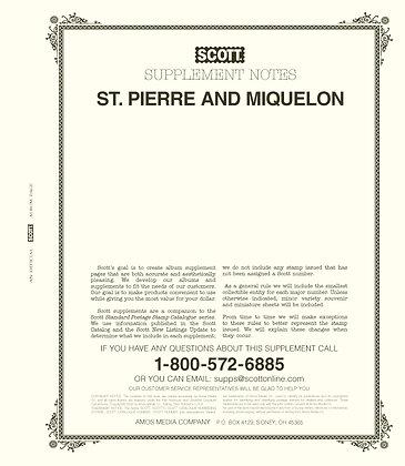 2020 Scott St. Pierre & Miquelon Supplement #25