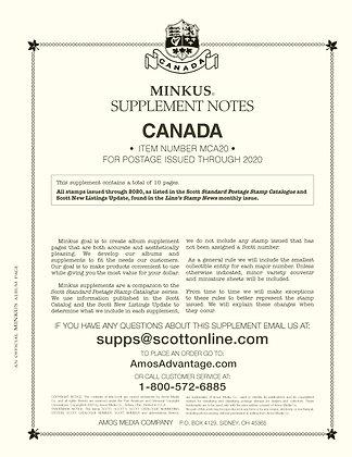 2020 Minkus Canada Supplement