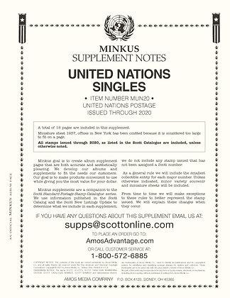 2020 Minkus United Nations Supplement