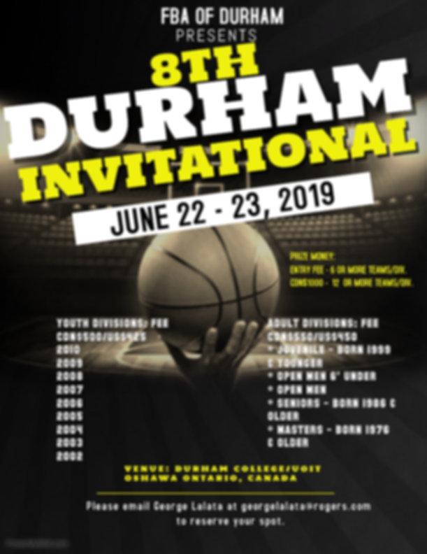 8TH DURHAM INVITATIONAL BASKETBALL TOURN