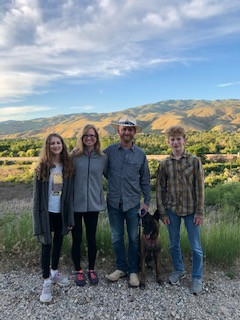 The family in the Boise foothills