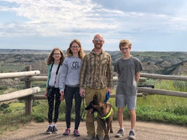 The family at Theodore Roosevelt National Park in ND