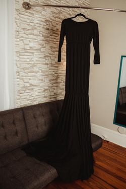 Black Long Sleeve Maternity Dress