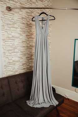 Foggy Gray Maternity Dress