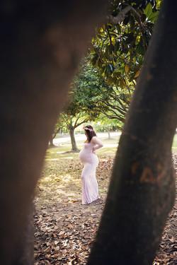 Lavender Lace Maternity Dress