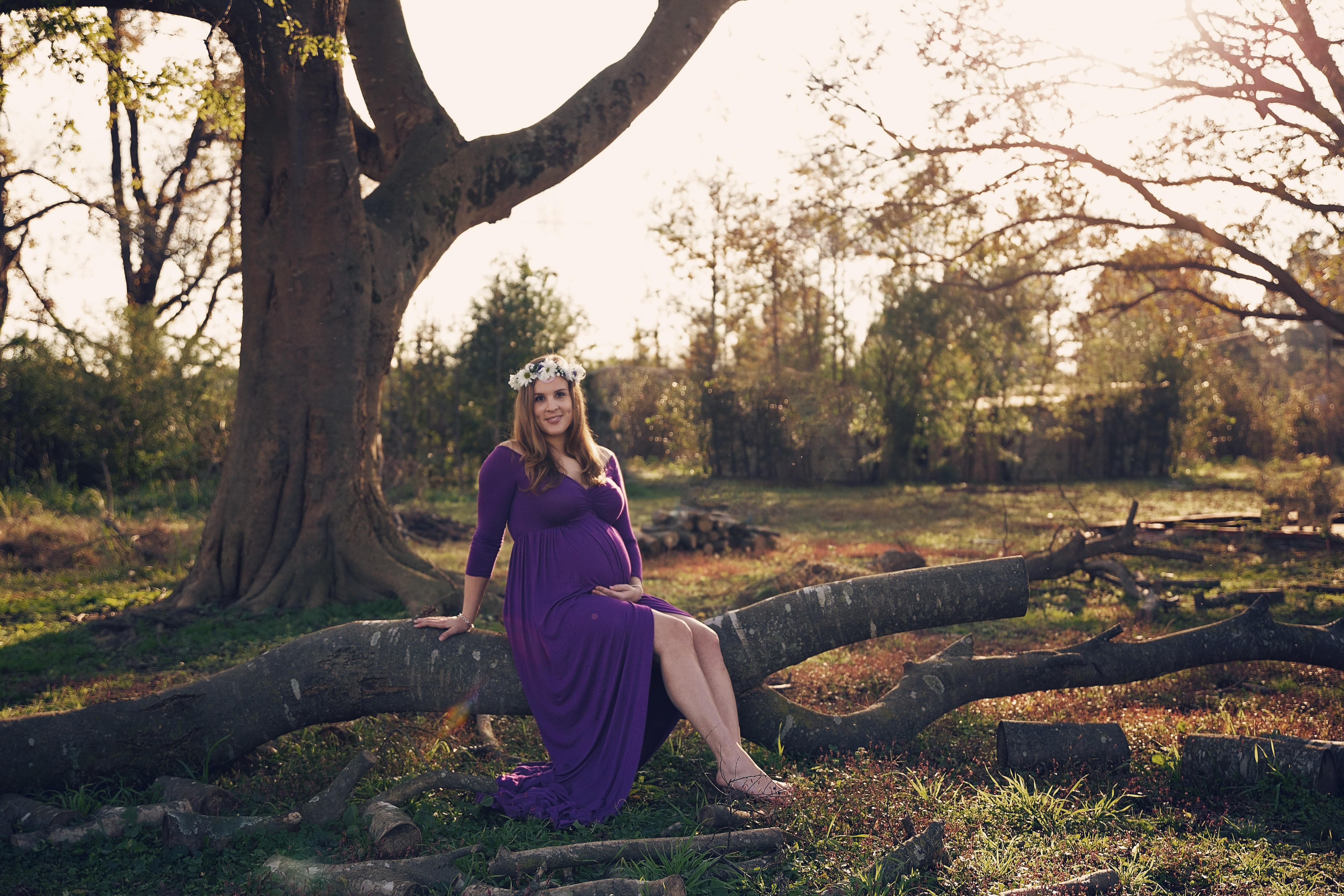 Violet Maternity Dress