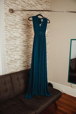 Dark Teal Maternity Dress