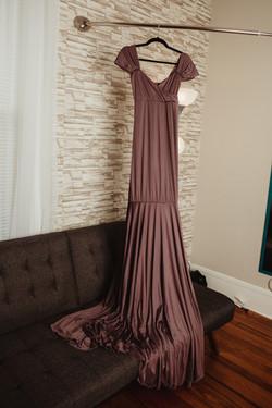 Smoky Amethyst Maternity Dress