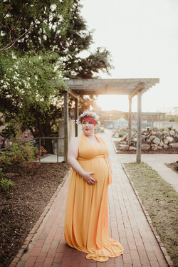 Golden Maternity Dress