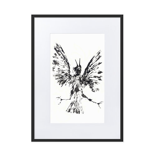 Matte Paper Framed Poster With Mat - European Starling (IA11V2)