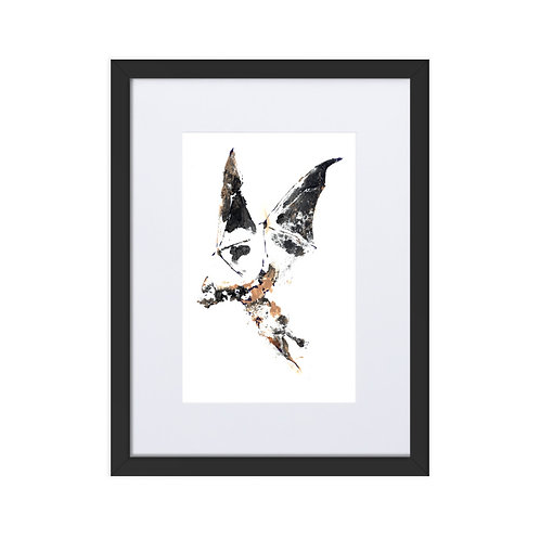 Matte Paper Framed Poster With Mat - Mexican Free-tailed Bat (IA55V2)