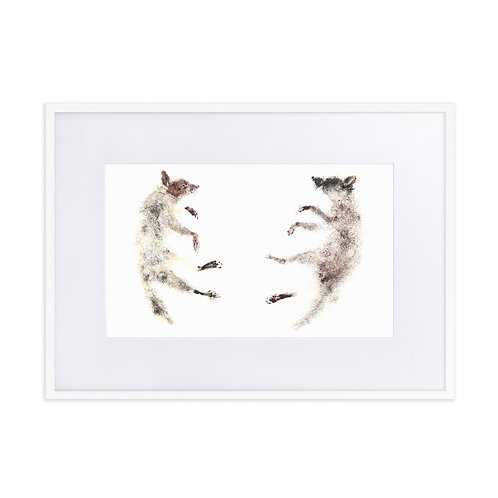 Matte Paper Framed Poster With Mat - Racoon (IA88V5)
