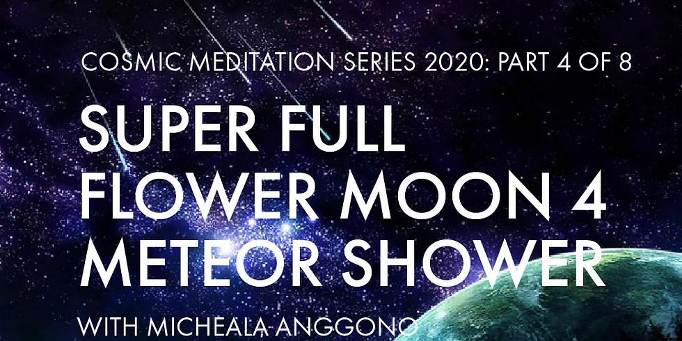 Super Full Flower Moon 4: Meteor Shower
