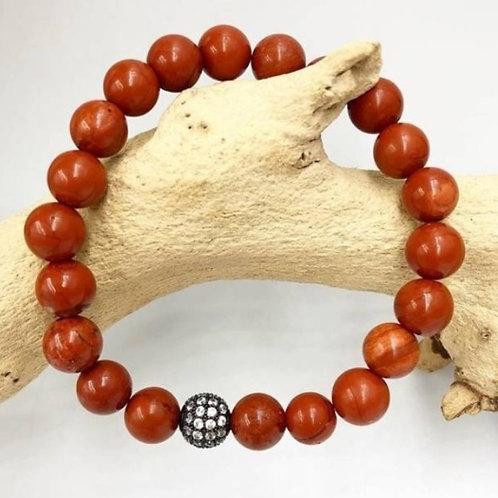 Red Jasper 10mm Crystal Bracelet