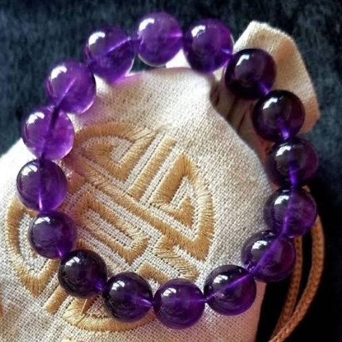 Amethys 12mm Crystal Bracelet