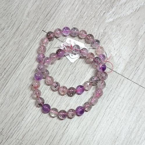 Super Seven (7) Melody 8 mm Crystal Bracelet