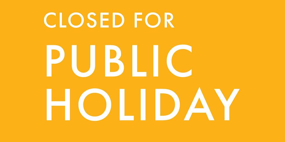 Closed For Public Holiday: Eid Al-Fitr