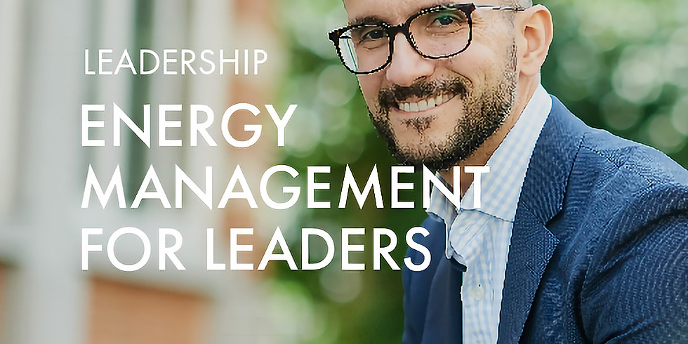 NEW! +Energy Charger @Leadership: Energy Management for Leaders